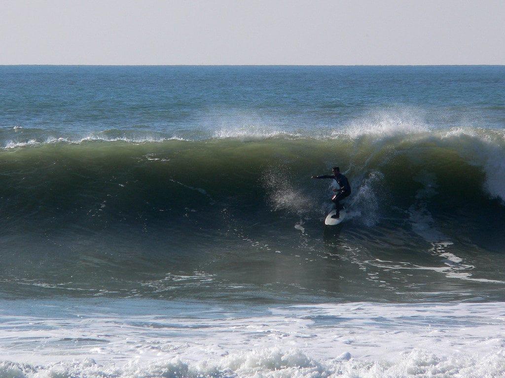 Le spot de surf de la Sauzaie à Brétigolles-sur-mer