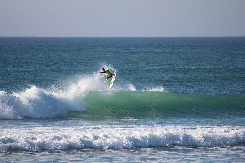 Le spot de surf la Torche à Penmarch