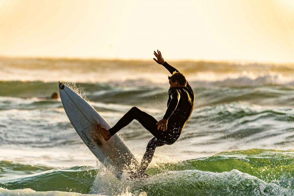 surfeur en action