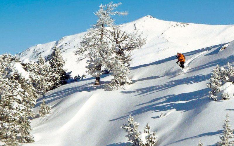 skieur hors piste Baqueira-Beret