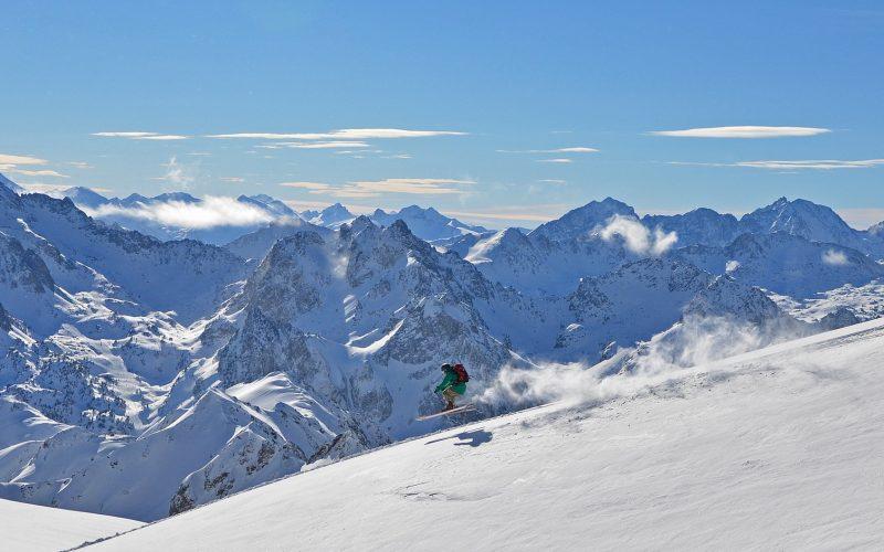 skieur piste grand tourmalet