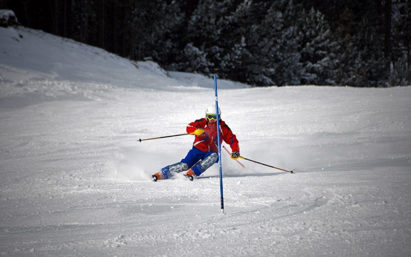 descente ski les angles